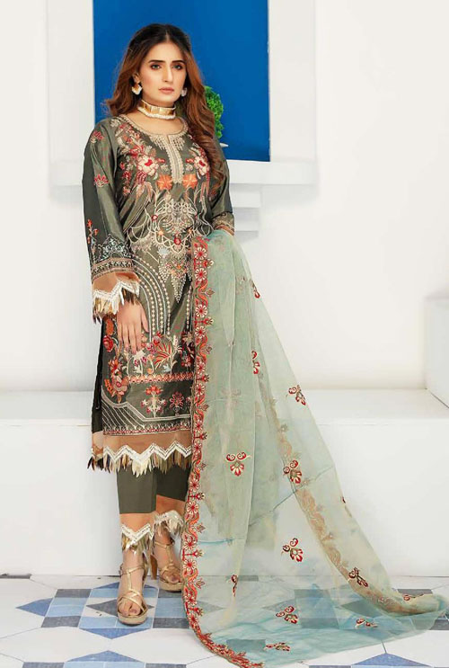 Seaweed Kashish Hand Work Embroidered Suit