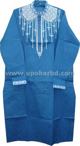 Dark Sky blue cotton panjabi