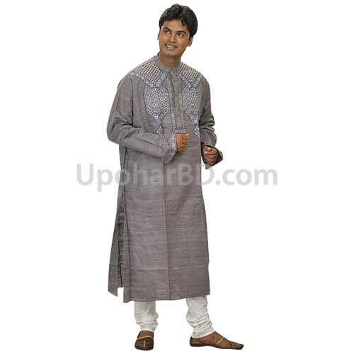 Ash colour cotton panjabi