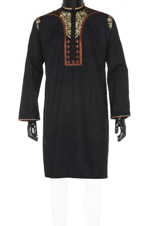 Black colour cotton panjabi