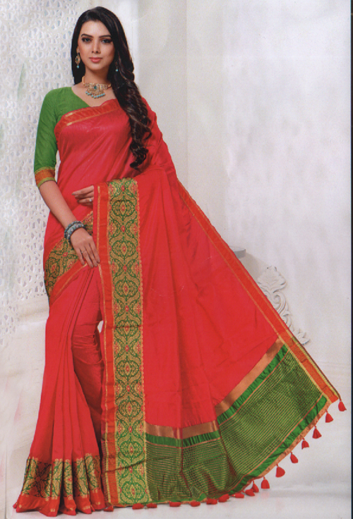 Valentine Red Saree