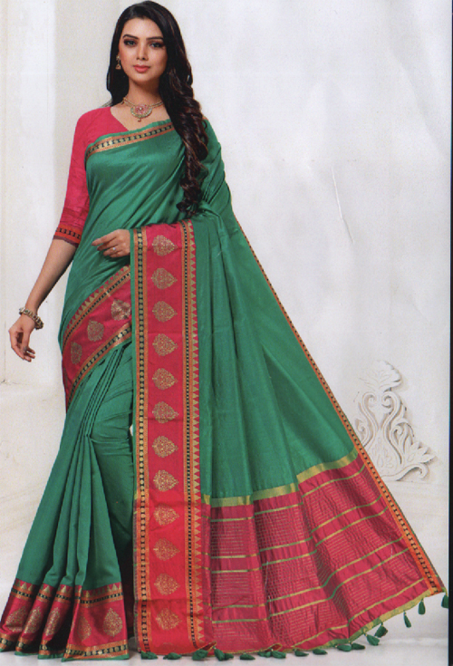 Teal Green Color Saree For Her
