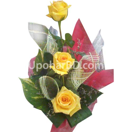 Yellow Rose Basket