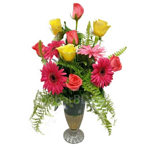 Roses and Gerbera Surprise