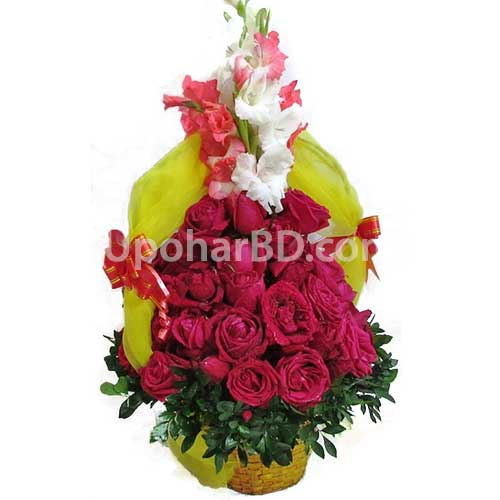 Circular Rose bouquet