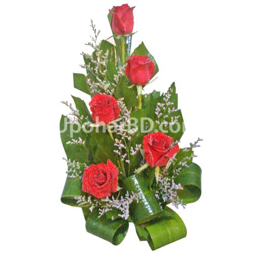Simply Radiant Red Flower arrangement