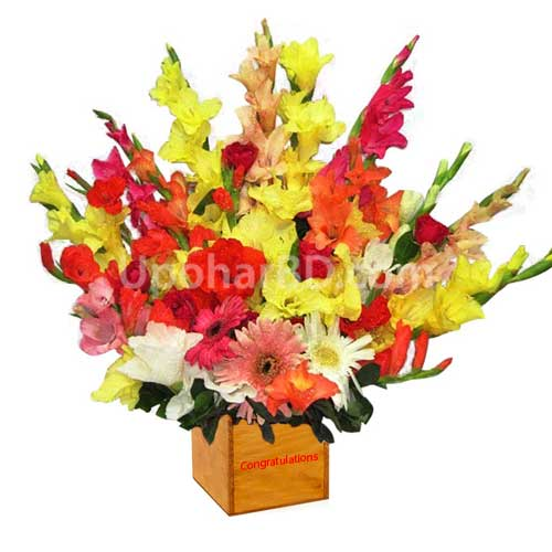 Mix flower with personalised message