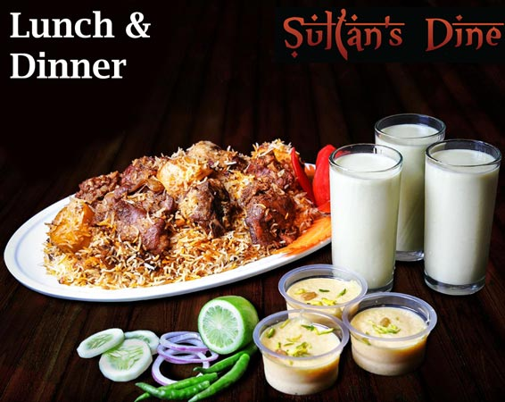 Sultans Dine kacchi biryani package