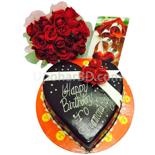Cake and roses for your love