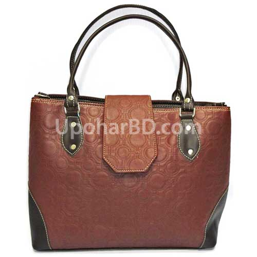 Leather hand bag (Chocolate)