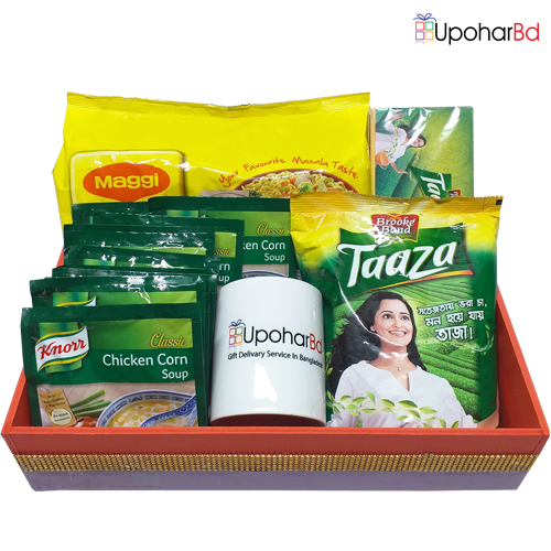 Knorr snack pack with taaza tea