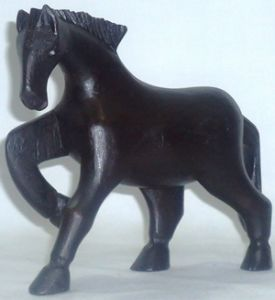 Wooden horse decoration piece