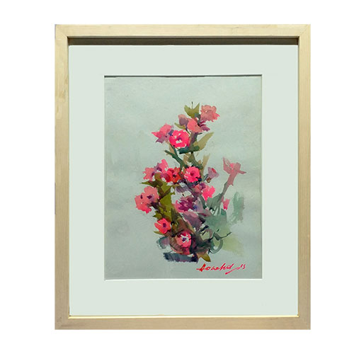 Original Art work of Wishbone Floral