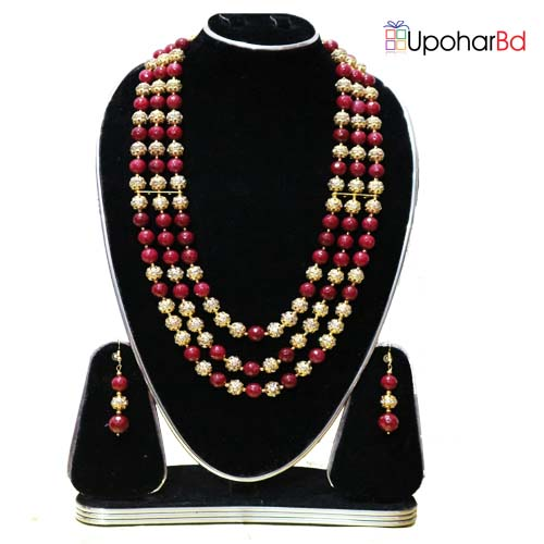 Wine red color metal set