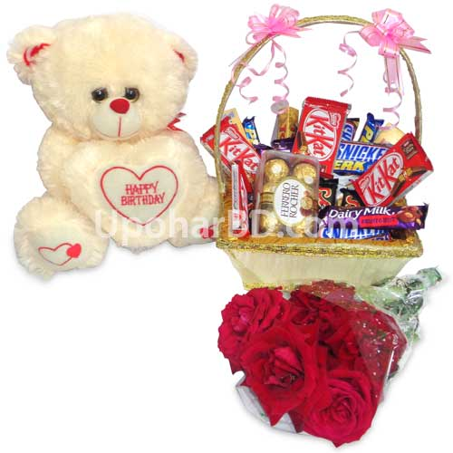 Order gift online now in Bangladesh - Chocolate basket ...