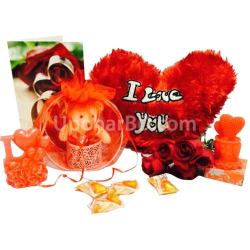 Hamper with a heart