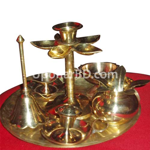 All in One Brass Thali For Puja