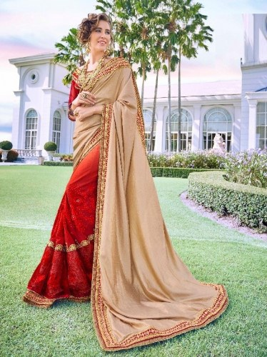 Cream Embroidered Saree from Kalishta Fashion's KHWAAB Vol-10