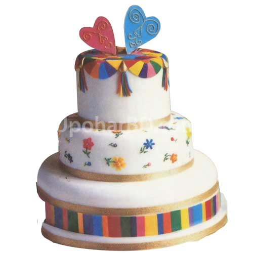 Three stored Multi-color Cake