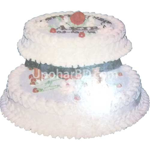Round shaped Two Storey Cake