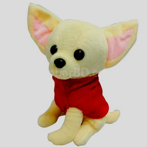 Chiwawa dog red soft toy