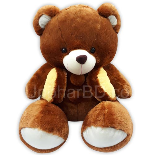 Brown teddy wearing koti