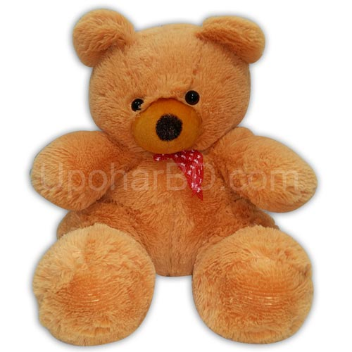 Teddy with red ribbon