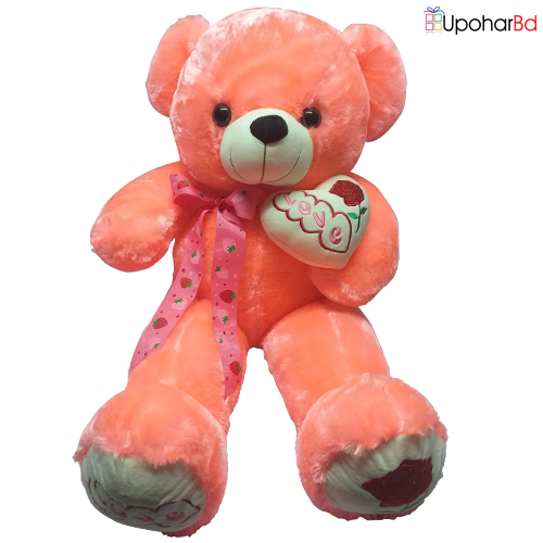 Pink teddy with bow tie