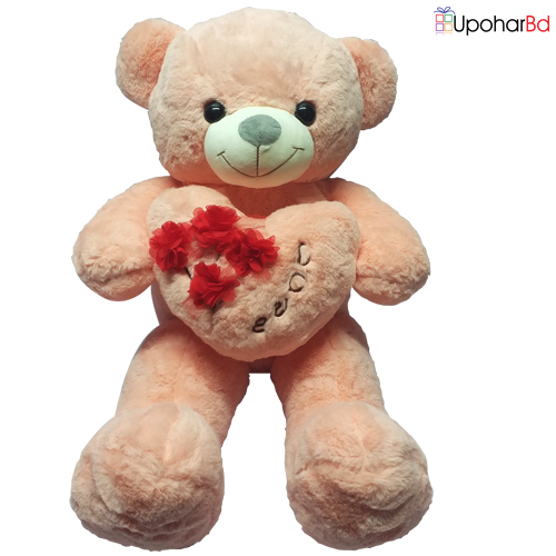 Pink Teddy With Heart