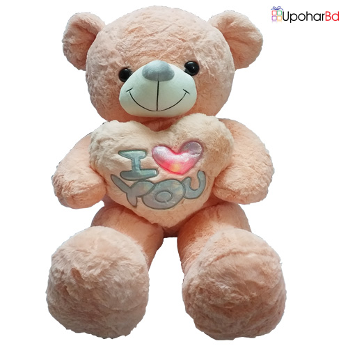 Pink Teddy With Lightening Heart