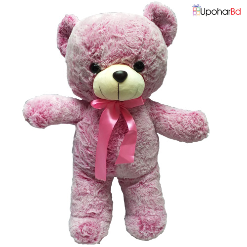 Rose pink Baby Teddy With Tie