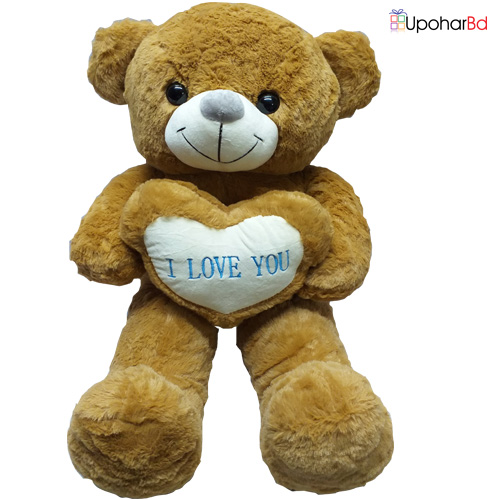 Rosy Brown Teddy Stuffed  With Love