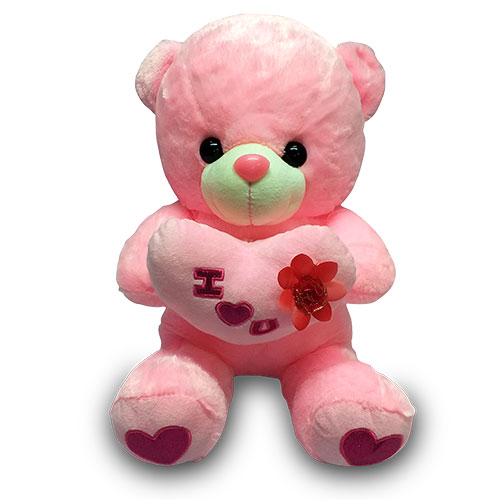 Pink Stuffed Teddy with Heart