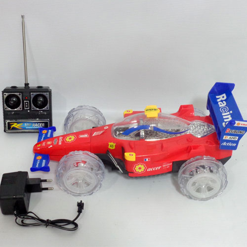 Remote controlled racing car with rechargeable battery