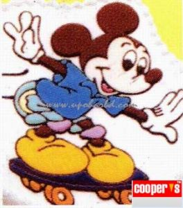 Mickey on a skate board