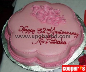 Cake with flower shape