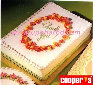 Cake with flower frame