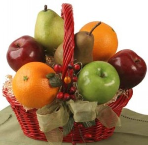 Fruit basket with Anar and Apple