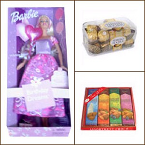 Beauty doll and Chocolate package