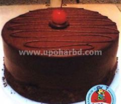 cake with rich chocolate