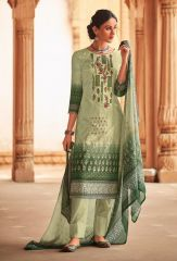 Pale Green Color Lawn for Her