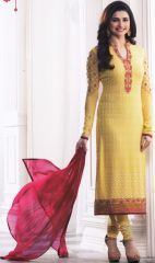 Bright Yellow fashionable suit from Vinay fashion