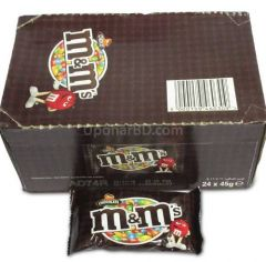 1 box of M&M chocolate (24pc x 45gm)