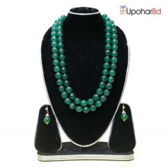 Teal green blue pearl set