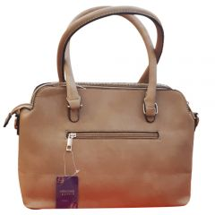 Beige ladies handbag