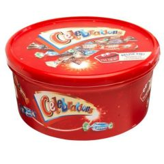 Celebration mix chocolate gift tub