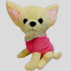 Chiwawa dog pink soft toy