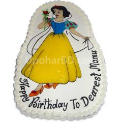 Snow white design cake