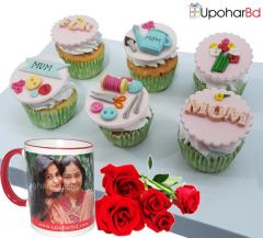6 Cupcake with a Personalize Photo Mug