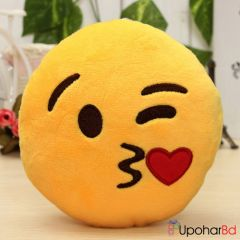 Red emoji cushion